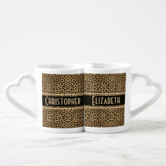 Leopard Skin Couple Personalize Lovers Mug