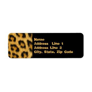 Leopard Skin, Fur, Hair Print Return Address Label
