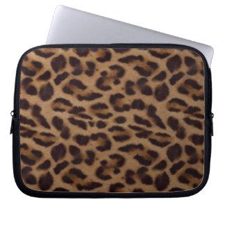 Leopard skin illusion laptop sleeve