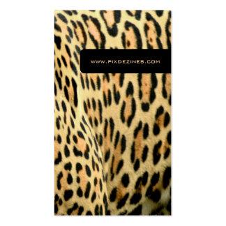 Leopard skin life animal business cards