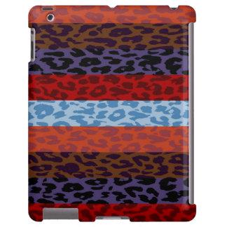 Leopard Skin Multicolor Stripe Pattern 3 iPad Case