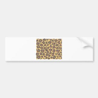 Leopard Skin Pattern Bumper Sticker