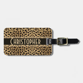 Leopard Skin Pattern Luggage Tag