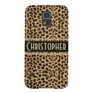 Leopard Skin Pattern Personalize Galaxy S5 Covers