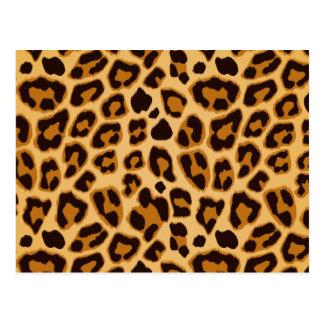 Leopard Skin Print Pattern Postcard