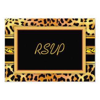 """Leopard Skin Print RSVP Card 5"""" x 3.5"""" Invitations"""