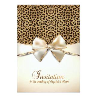 "leopard skin print wedding event invitation 5"" x 7"" invitation card"