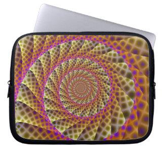 Leopard Skin Spiral Laptop Sleeve