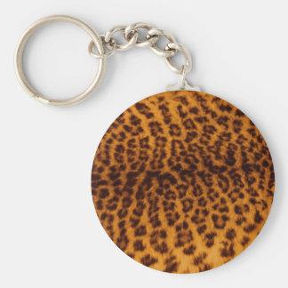 Leopard skin texture keychains