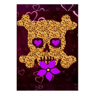 Leopard Skin Valentine Business Cards