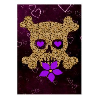 Leopard Skin Valentine Business Card Template