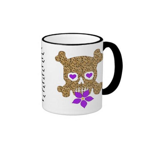 Leopard Skin Valentine Ringer Mug