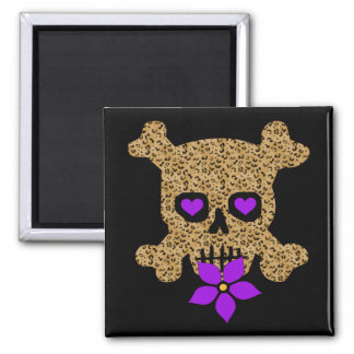 Leopard Skin Valentine Square Magnet