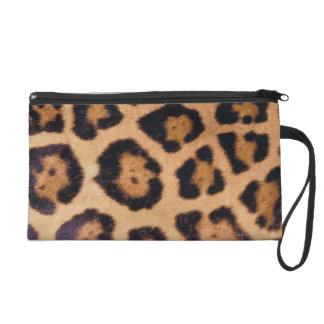 Leopard skin wristlet