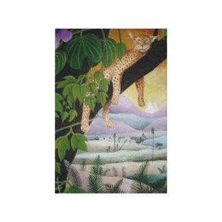 leopard sleeping canvas print