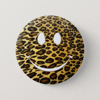 Leopard Smile 6 Cm Round Badge
