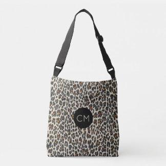 Leopard Sparkle Monogram Tote