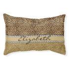 Leopard Spot Gold Glitter Rhinestone PHOTO PRINT Pet Bed