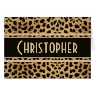 Leopard Spot Skin Print Personalized Card