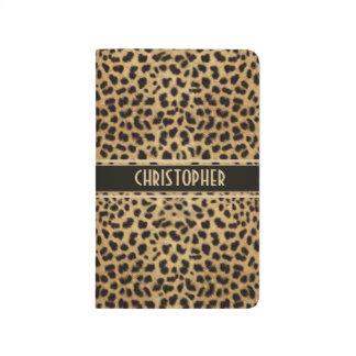 Leopard Spot Skin Print Personalized Journal