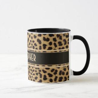 Leopard Spot Skin Print Personalized Mug