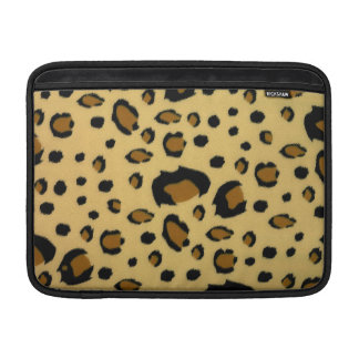 Leopard Spots Brushed Fur Texture Look MacBook Sleeve
