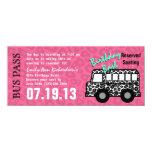 Leopard Spots Bus Pass Birthday Party 10 Cm X 24 Cm Invitation Card