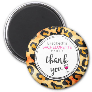 Leopard Spots Pattern Bachelorette Party Thank You Magnet