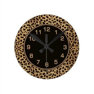 Leopard Spots Pattern Clocks