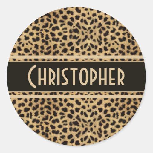 Leopard Spots Pattern Sticker