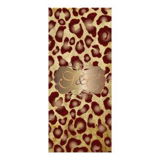 Leopard spots + pearl swirls vintage parchment custom announcement