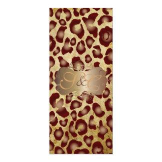 Leopard spots + pearl swirls/vintage parchment custom announcement