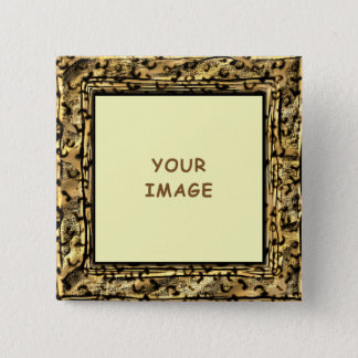 Leopard Spots Photo Frame Button