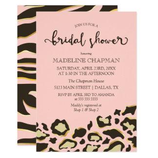 Leopard Spots & Tiger Stripes Bridal Shower Card