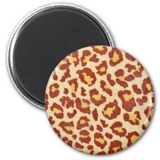 Leopard Spots Ultrasuede Look 6 Cm Round Magnet