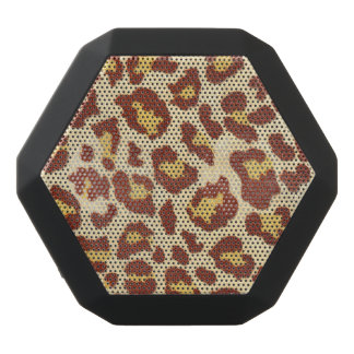 Leopard Spots Ultrasuede Look Black Boombot Rex Bluetooth Speaker