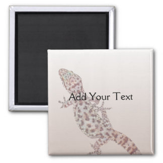 Leopard Spotted Gecko on Sand Square Magnet