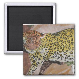 Leopard Square Magnet