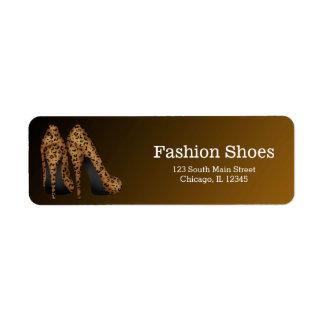 Leopard Stilettos Return Address Label