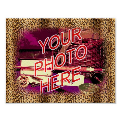 Leopard Template Frame Poster