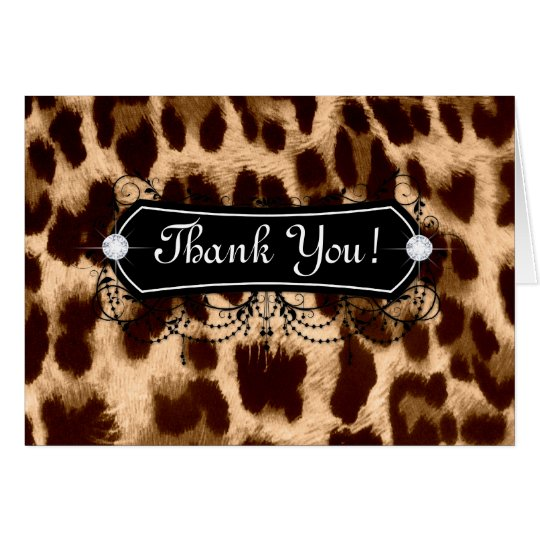 Leopard Thank You Card Jewellery Fashion