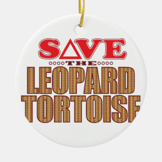Leopard Tortoise Save Christmas Ornament