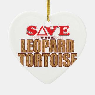 Leopard Tortoise Save Christmas Ornament