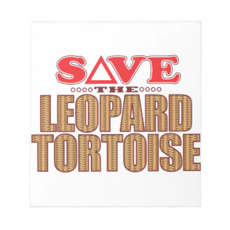 Leopard Tortoise Save Notepad