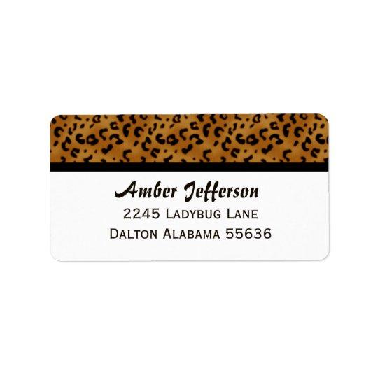 Leopard Trimmed: Address Labels