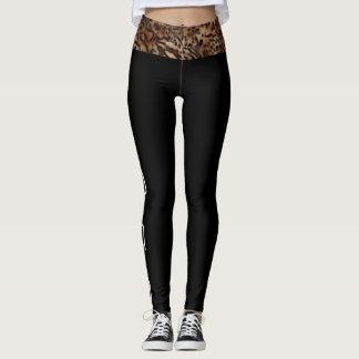 (leopard waist YOGA edition) Leggings