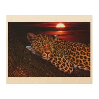 Leopard WALL Portrait Wood Print