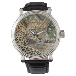 Leopard Watch with white dial