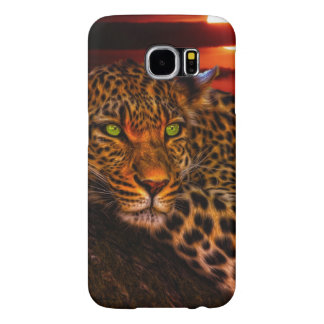 Leopard with Sunset Samsung Galaxy S6 Cases