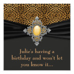 Leopard Womans Surprise 40th Birthday Party Invitations